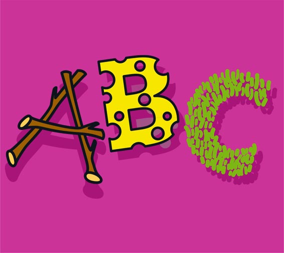 Blocktext Abfall ABC