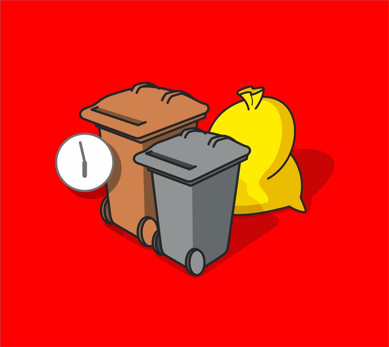 Zeiten für Abfallbehälter