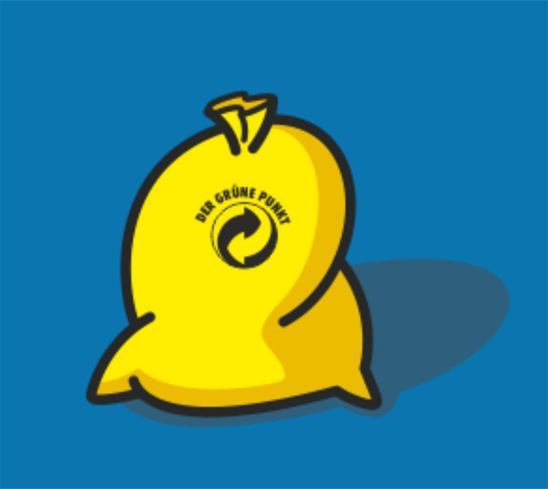 gelber Wertstoffsack