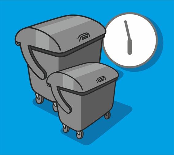Großbehälter Restabfall